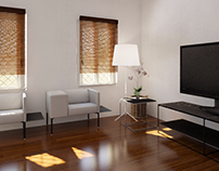 Small Apartment Interiors Rendering