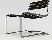 Plate spring chair