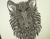 Wolf, vector art