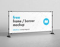 Free banner frame mockup / 300x125