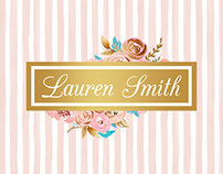 Lauren Smith Wedding Planner Brand Identity Design