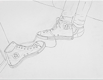 Line Drawing of Shoes Having an Argument
