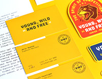 Young, Wild and Free Brand Identity
