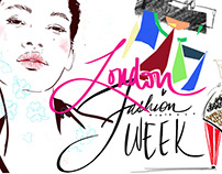 LONDON FASHION WEEK Miss Led Illustration