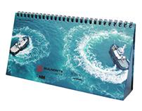 Desk calendar for a navigation company