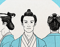 "NHK ETV ""JAPANGLE Season 3""#8 ""Hair Style"" Illustration"