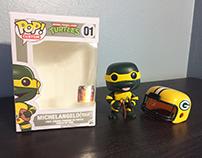 Custom Green Bay Packers Michelangelo Funko POP