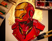 Iron Man Watercolor