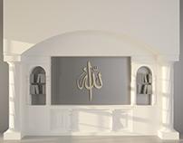 Arabesque Modern Library - 3D Model
