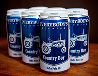 Everybody's Brewing Country Boy IPA Packaging Design
