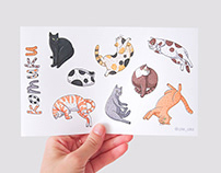 "Sticker pack ""Cats"""