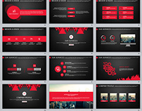 29+ red black work summary PowerPoint templates
