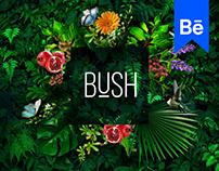 "BUSH | coffee shop ""identity design"""