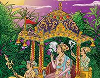 Mughal art T-shirt Print