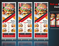 Roll-Up Banner Testy Food Services