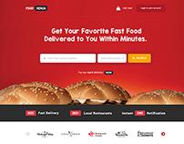 Food Ninja Website Mockup