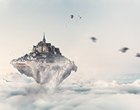 Flying Castle - Photoshop Composition