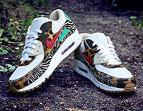 Atmos x Nike Air Max 90 iD Supreme 'Animal' Inspired