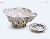 Doug Peltzman Pottery (Web Design)