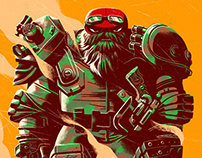 Teenage Mutant Ninja Turtles Mondo Print