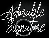 FREE | Adorable Signature Font