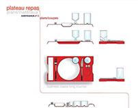Plateaux repas Air France