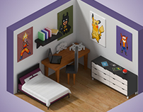 Isometric game room