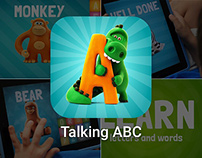 ABC LETTERING video presentation for ios app