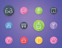 Clothes and Fashion Accessories Flat Icons | iOS Icons