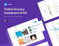 Delites - Grocery Dashboard UI Kit