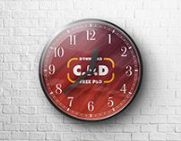 Wall Clock Mockup Free Psd