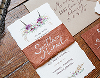 Bohemian Plantation Wedding Stationery