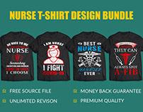 Nurse T Shirt Design Bundle