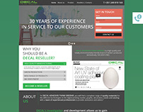 Decal Landing Page