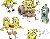 Spongebob character designs