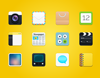 Freebie - 12 Modern Square Rounded Icons