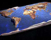 3D- Earth map miniature