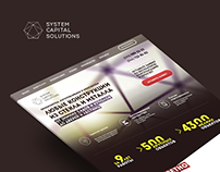 System Capital Solutions - landing page