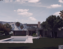3D model + render. The Kaufmann House_Richard Neutra.