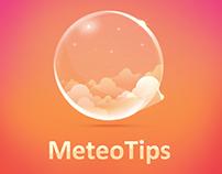 MeteoTips - фирменный стиль + иконки для сайта погоды.