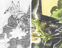 Wizard of Oz, drawing & painting