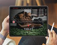 Free Man Using Tablet Mockup