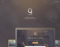 QStudio - Landing page