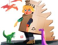 Box Dinosaur