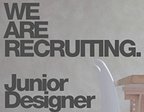 We Are Recruiting - Junior Designer