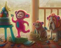 Galactic Monkeys searching for the banana moon