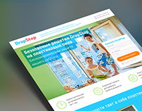 Drop Stop landing page /flyer /banner