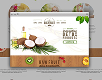 Detox Products Home Page Design