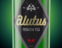 Alutus Beer Logo & Package Design