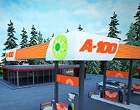 A-100 petrol station concept design